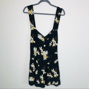 NWT Urban Outfitters Black Floral Y2K boho B18